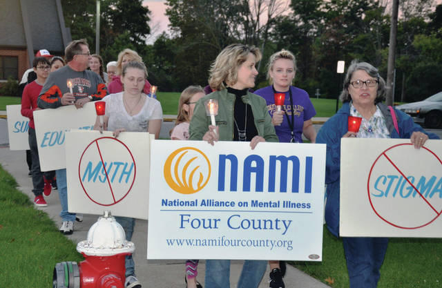 Again this year, a candlelight walk for mental health is planned in Defiance.
