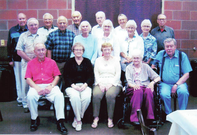 The Wauseon High School Class of 1950 held a 67th reunion Sept. 6 at Sullivan's Restaurant in Wauseon. Pictured are - front row, from left - Marshall Boyers, Lorene Connin Miller, Diann Knapp Roth, Marian Kolb Dinius, Rollo Frazier - middle row, from left - Jarol Yackee, Rollin Wanemacher, Joan Miller Merrill, Melva Banister Grisier, Joanne Seaman Bowerman, Jayne Seaman Lozer - back row, from left - Don Warncke, Hal Zug, William Hartman, Duane VanValkenburg, Sterling King, Tom Becker.