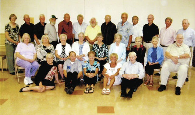 The Wauseon High School Class of 1957 held its 60th reunion on Aug. 19 at First Christian Church. Pictured are - front row, from left - Francita Gasche, Roger Armstrong, Sandy Schaechterle, Linda Lammon, Ed Gorsuch - second row, from left - Edith Tussing, Sally Lutz, Liz Neuenschwander, Vera Pike, Brenda Michaelis, Jeanette Weber, LaDonna Smith, Gloria Smith, Donald Schrock - back row, from left - Judy Sampson, Bob Rupp, Russ Paxson, George Howard, Warren Kahrs, Harold Baum, Jerry Green, Duane England, Dick Raker, Roger Frazier, Randy Germann, Lee Riches, Robert Fauver. Not pictured: Alice Keller.