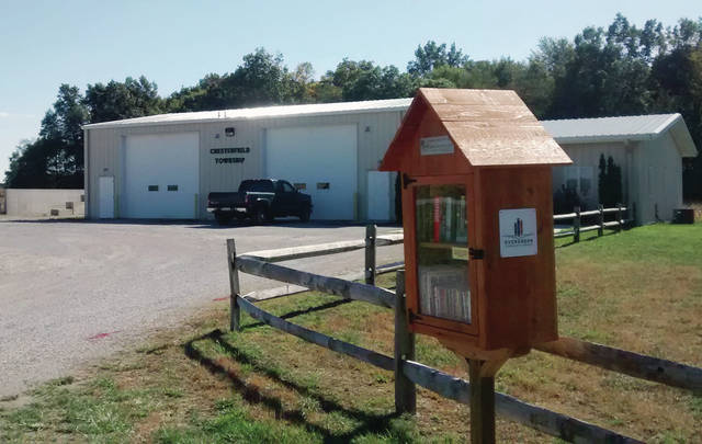 The Little Free Library in Chesterfield Township is at the township hall on U.S. 20.