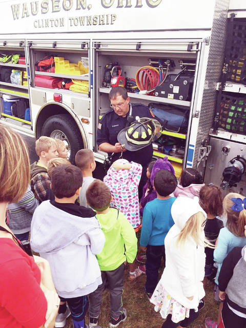 Wauseon Primary School students recently learned about fire safety from the city fire department.