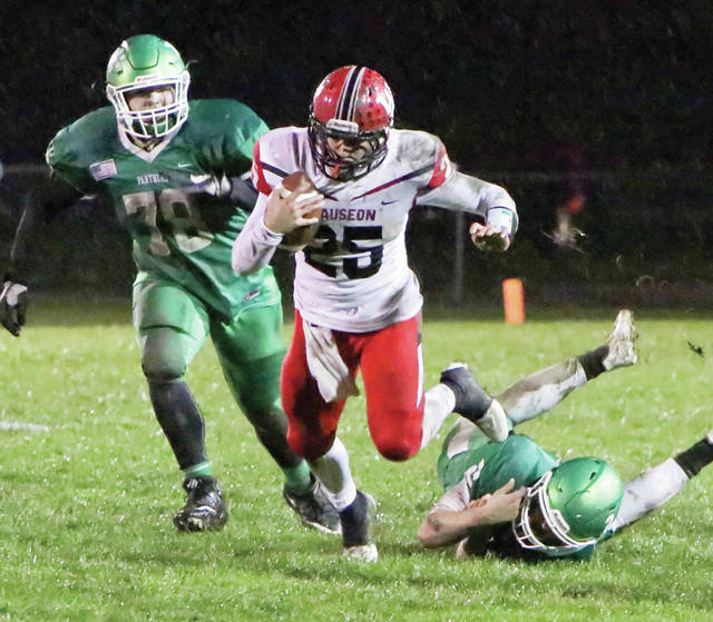 Junior Martinez of Wauseon breaks loose Friday night against Delta. The Indians routed the Panthers 48-0.