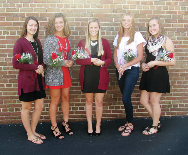 Wauseon High School has announced its 2017 Homecoming Court. Pictured, from left: Kelcy Blanchong, sophomore; Avery Giguere, senior; Chloe Lane, Homecoming Queen; Julie Waldron, junior; Haleigh Wurst, freshman. The Homecoming football game against Swanton will be held Friday at 7 p.m.