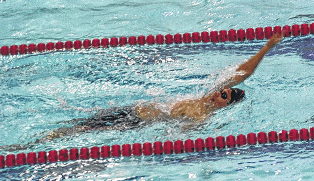 Wauseon's Branden Arredondo competes in the backstroke at a home meet last season. He returns for his sophomore season after qualifying for state a year ago.