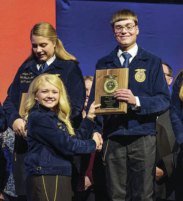 Jacob Dennis from Fayette was selected as a national finalist for the National FFA Proficiency Award in Agriscience Research - Plant Systems.