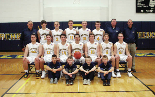 The 2017-18 Archbold boys basketball team.
