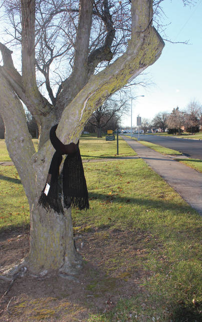 "Along with the cold weather, an anonymous act of good will showed up in Wauseon's Reighard Park last week. Scarves were tied to trees along Parkview Drive in Wauseon along with a message. It read, ""I am not lost! Please take me with you if you are cold. Stay warm. God Bless!"""