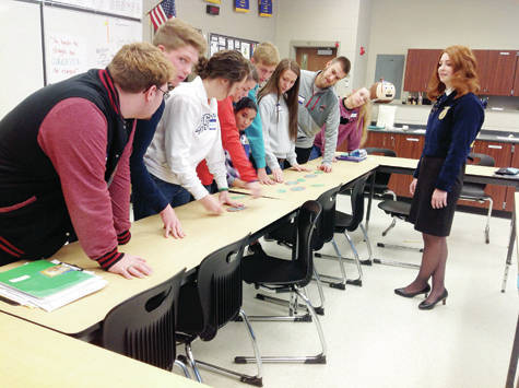 Marleigh Kerr, State Sentinel from Anthony Wayne High School, visited the Pettisville FFA earlier this school year and worked with members on various team and leadership building games.