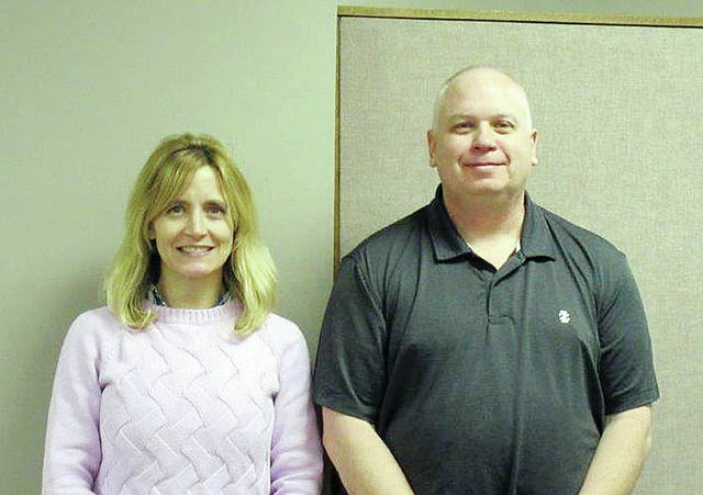 Deborah Micham and Mark Shadbolt were sworn in recently as the newest members of the Fulton County Board of Developmental Disabilities. Board members elected as 2018 officers include: Mike Oricko, president; Shirley Colon, vice-president; and Diana Mundhenk, secretary. Meetings will be held on the third Tuesday of each month, 5 p.m., at the Fulton County Board Administrative Offices, 1210 N. Ottokee St., in Wauseon.