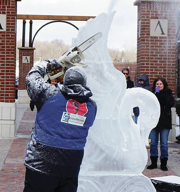"Ice carving will be one of many activities during ""Frozen in Time"" at Sauder Village on Saturday, Feb. 17."