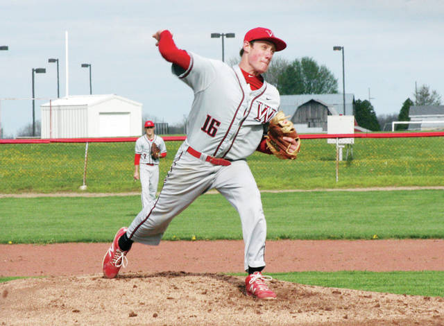 Brooks Gype on the mound for Wauseon in a game last season. He returns for the Indians in 2018.