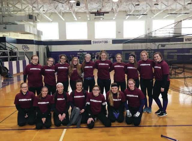 The Swanton softball team is honoring those wounded and those who lost their lives at the Marjory Stoneman Douglas school shooting earlier this year by wearing warm-up shirts that say #MSDStrong on the front.