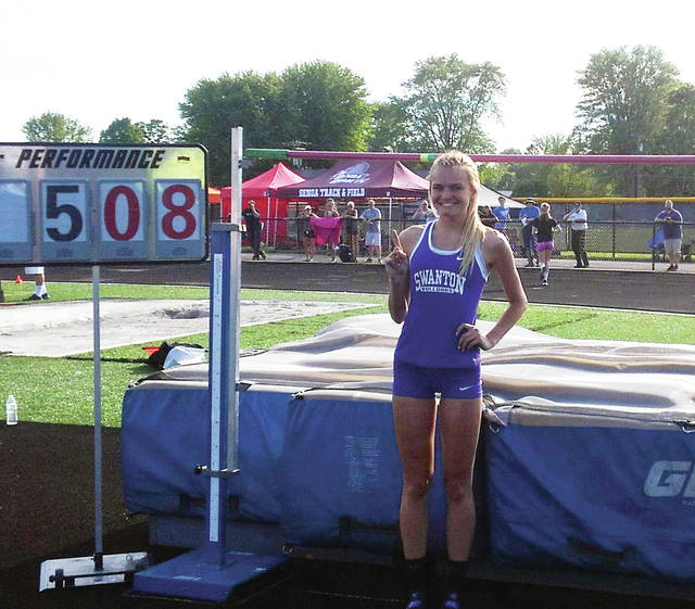 Swanton's Julia Smith cleared 5-8 in the high jump to win the regional title and break the regional record on Wednesday.