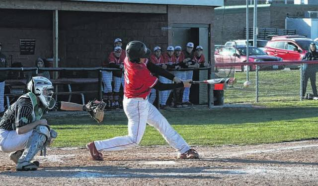 Joe Shema of Wauseon with an RBI in a NWOAL game against Delta this season. He was second team all-league for the Indians.