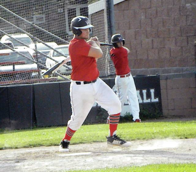Wauseon's Cody Figy bats in an ACME baseball game Thursday versus Holgate. He registered a pair of hits in the Indians' 10-0 win.
