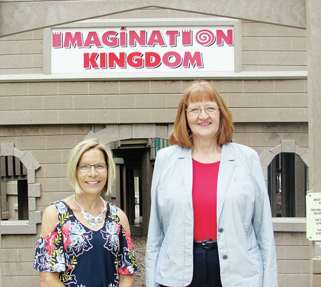 Bonnie Grisier, left, and Gloria Gunn, named Wauseon Citizens of the Year in 2012 for spearheading the creation of Imagination Kingdom, have been named grand marshals of the city's Homecoming Parade on Saturday.