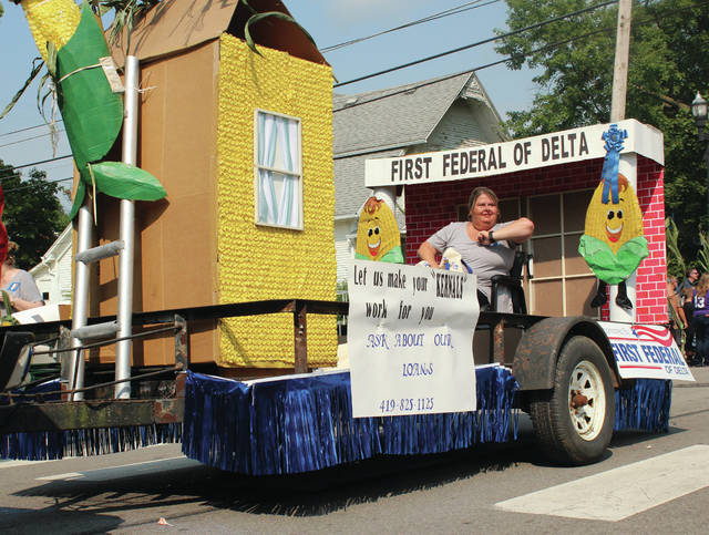 First Federal of Delta's Swanton branch won the float competition at the annual Corn Festival held in Swanton on Saturday.