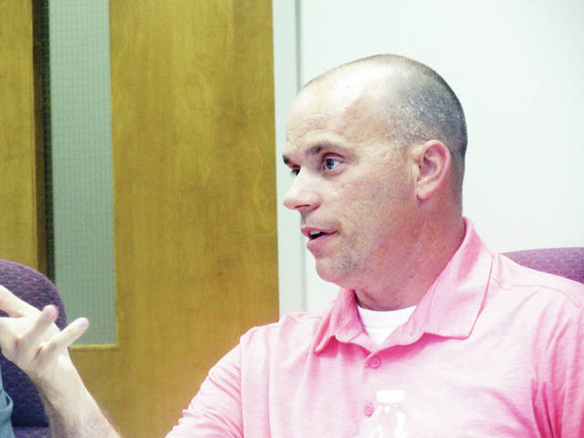 Wauseon City Council member Shane Chamberlin discussed a street lighting survey at Tuesday's meeting.
